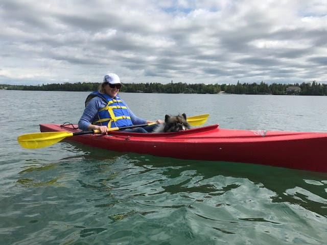Carissa Kayaking at the Lakehouse