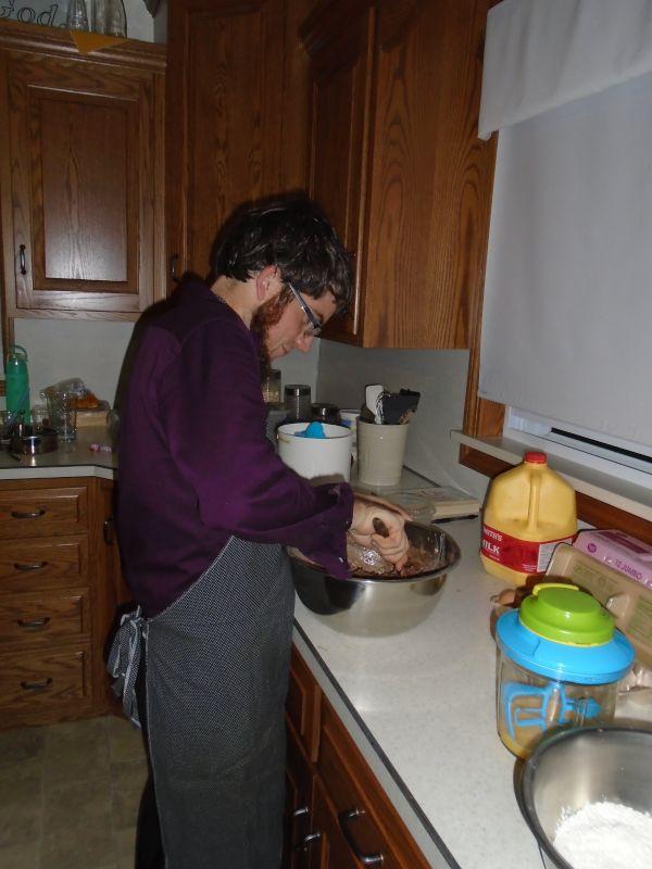 Chris Making a Yummy Cake