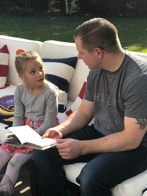 Bryce Reading With Our Niece