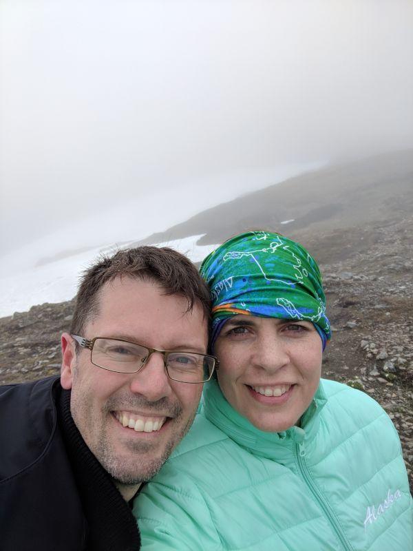 Enjoying a Foggy Mountain Hike