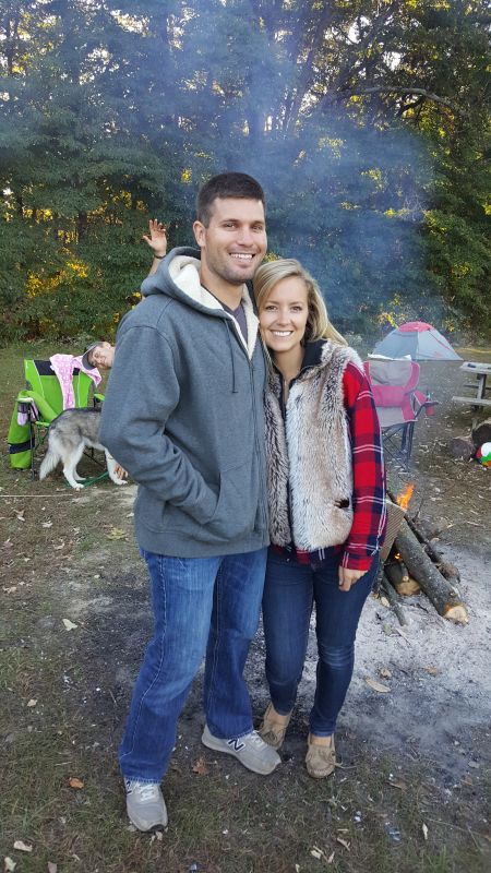 Warming up by the Fire on Our Annual Camping Trip
