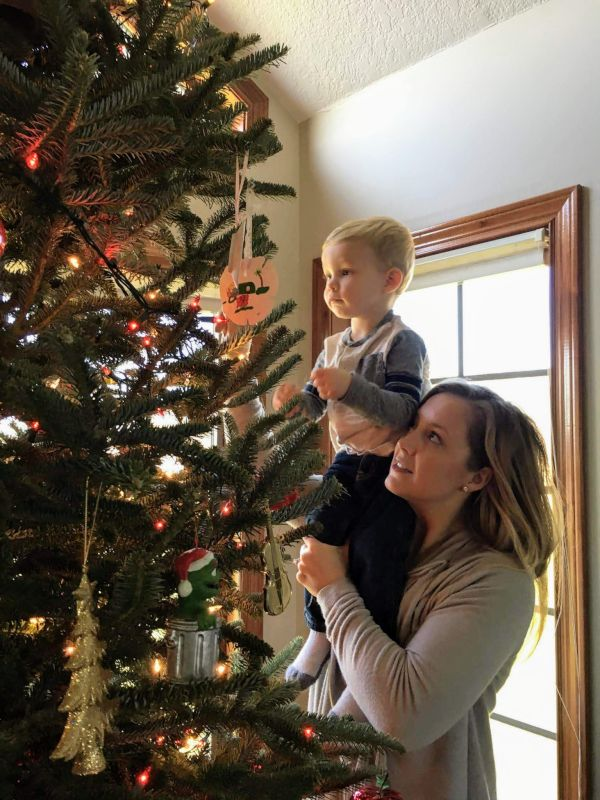 Decorating the Christmas Tree With Our Nephew