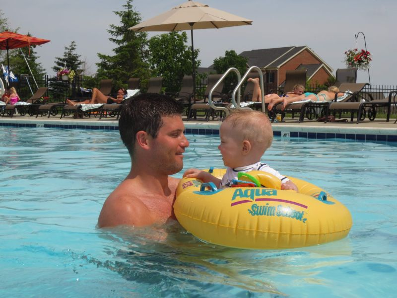 Playing in the Pool With Our Nephew