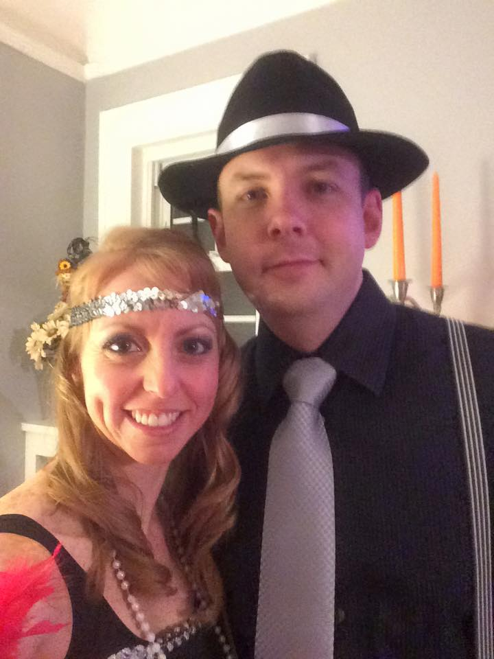 Halloween - Dressed Up as Bonnie & Clyde