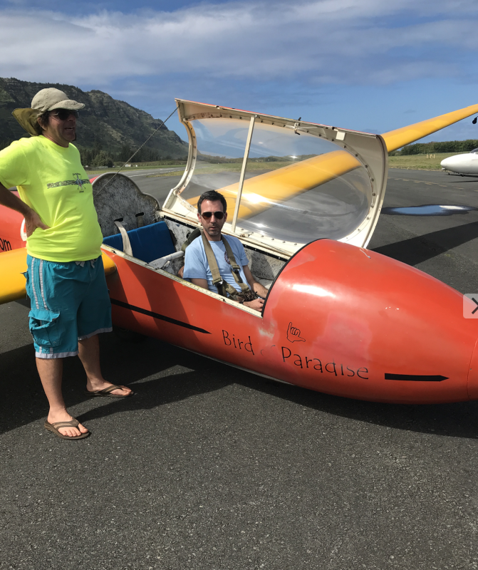 Chad Getting Ready to Fly a Glider Plane