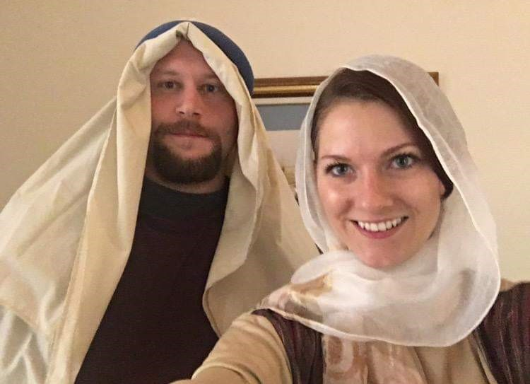 Playing Joseph & Mary for a Church Skit