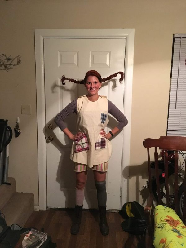 Pippi Longstocking for the Army Halloween Fun Run