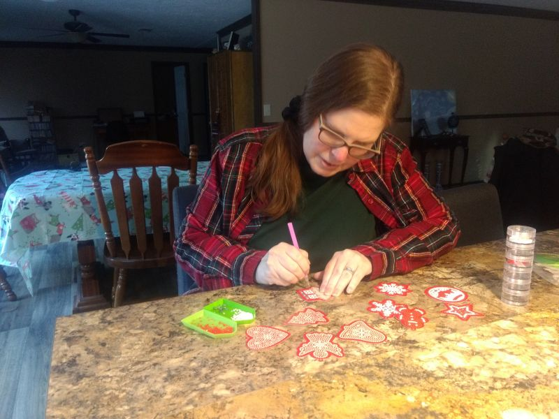 Kelly Diamond Painting Christmas Ornaments for Our Tree