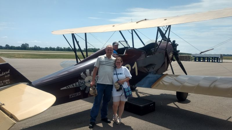 Getting Ready to Fly in a Bi-Plane