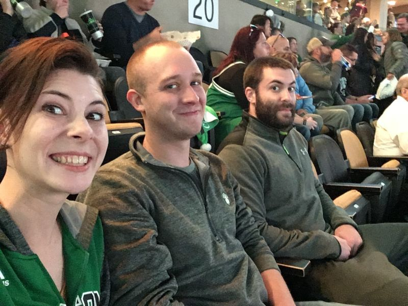 Celtics Game with Brit's Brother