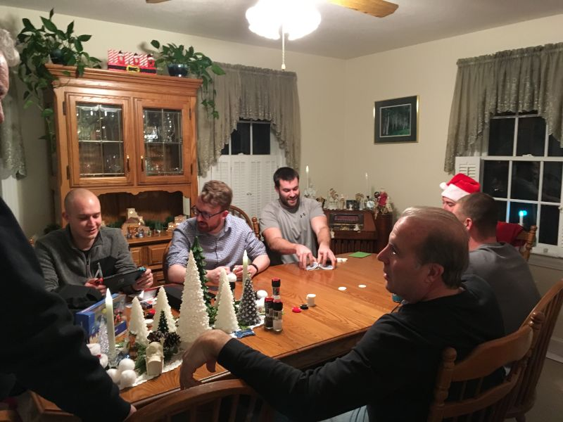 Playing Cards at Christmas