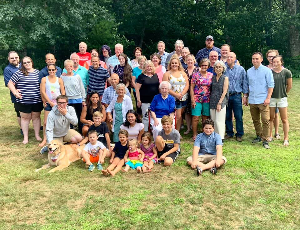Erin's Large Family Celebrating Nana's 95th Birthday