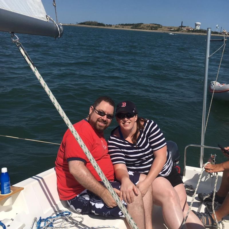 Sailing in Boston Harbor