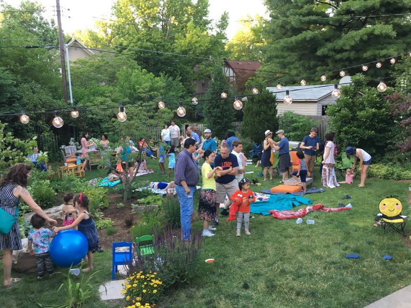 Families Gather in Our Backyard For a Concert