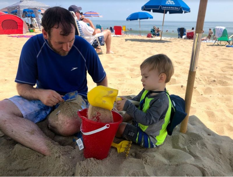 Playing in the Sand with Dad