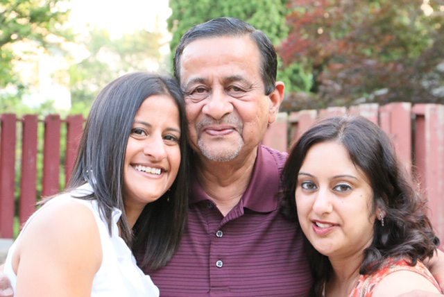 Anita with Her Sister & Father
