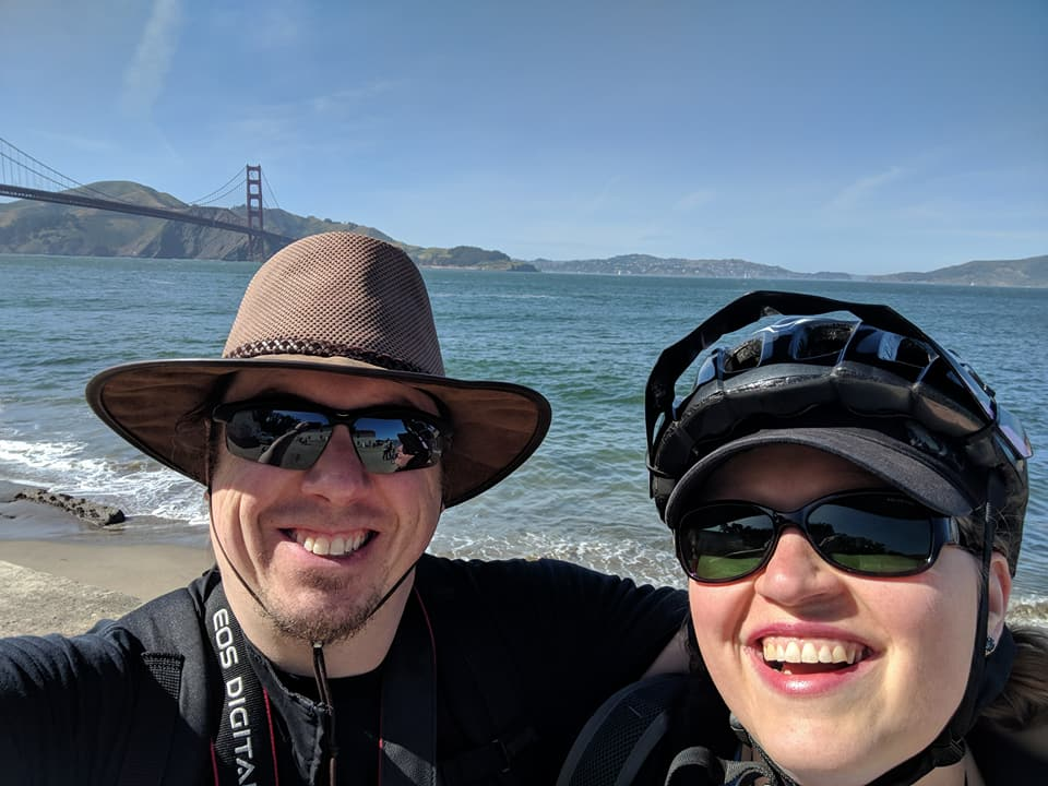 At the Golden Gate Bridge