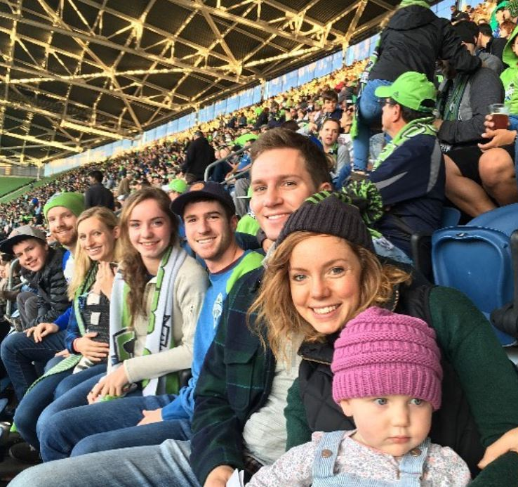 Family Trip to a Seattle Sounders Soccer Game