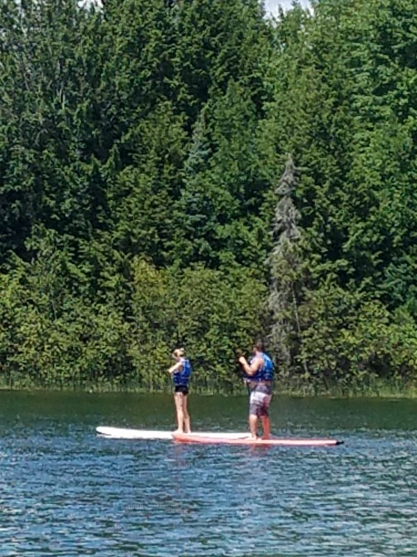 Paddleboarding at the Cabin