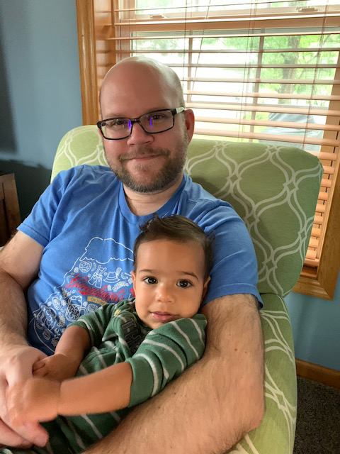 Zack With Our Godson