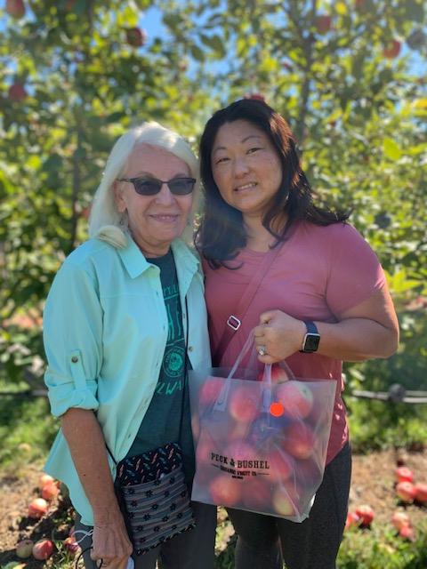 Kari & Her Mom Apple Picking