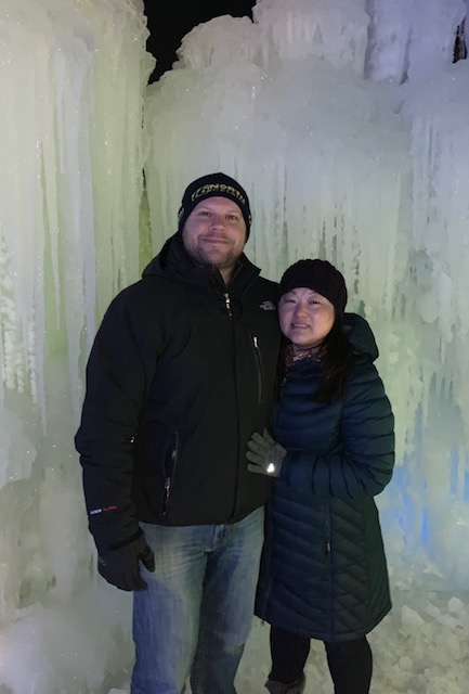 At Ice Castles