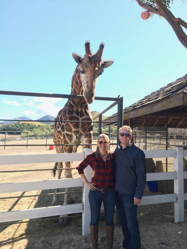 Meeting Stanley the Giraffe