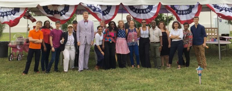 Celebrating the Fourth of July at the U.S. Embassy