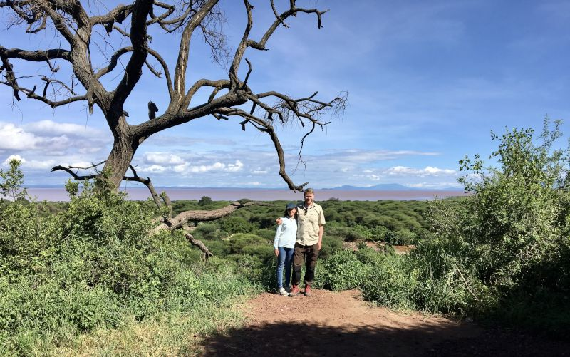 Hiking in Taningira park