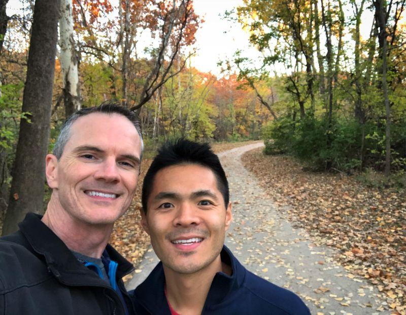Enjoying a Hike & Enjoying the Beautiful Colors of Fall