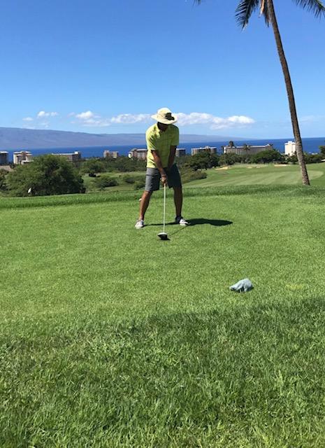 Luke Golfing