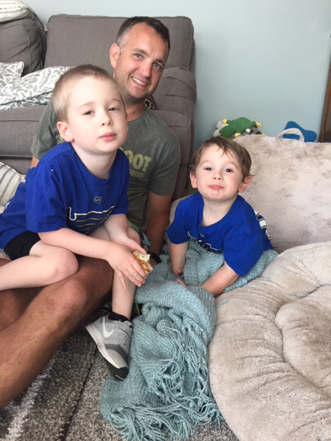 Luke With Our Nephews