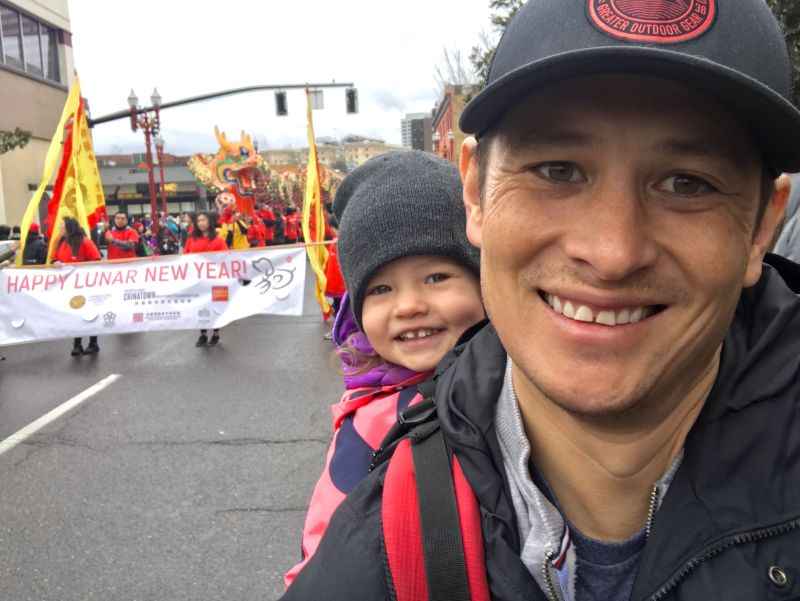 Watching the Chinese New Year Parade