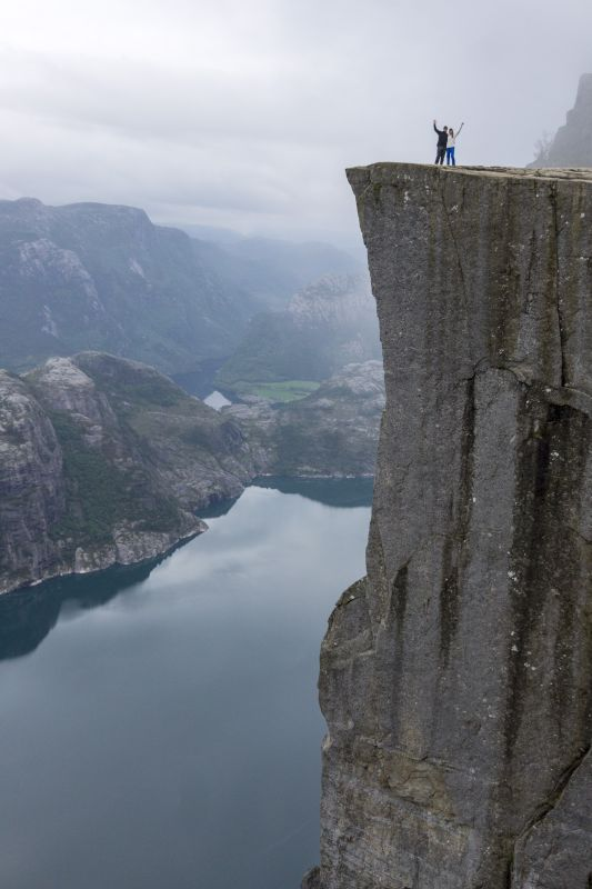 Together at Pulpit Rock in Norway