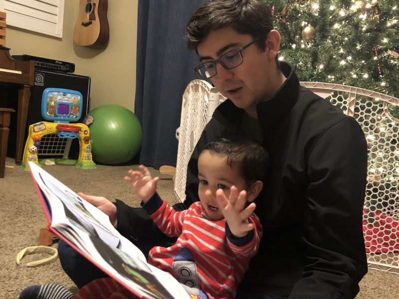 Reading With Our Nephew