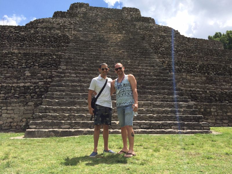 Exploring Ruins in Costa Maya