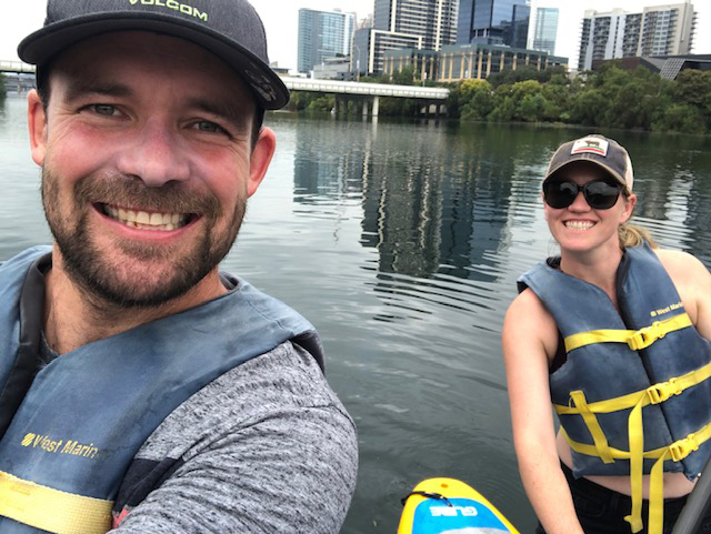 Paddleboarding in Austin, Texas