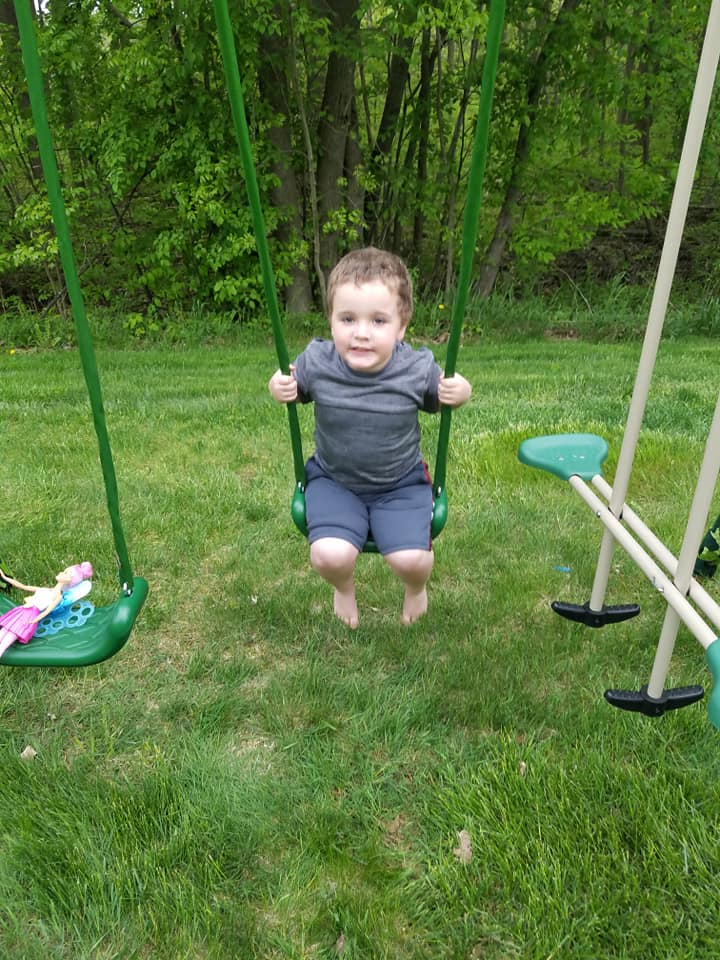 Playing on Our Swingset