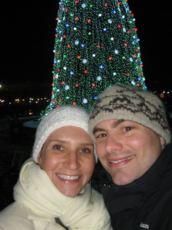In Front of the National Christmas Tree