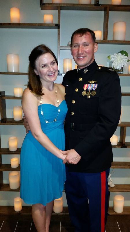 All Dressed Up for a Marine Party