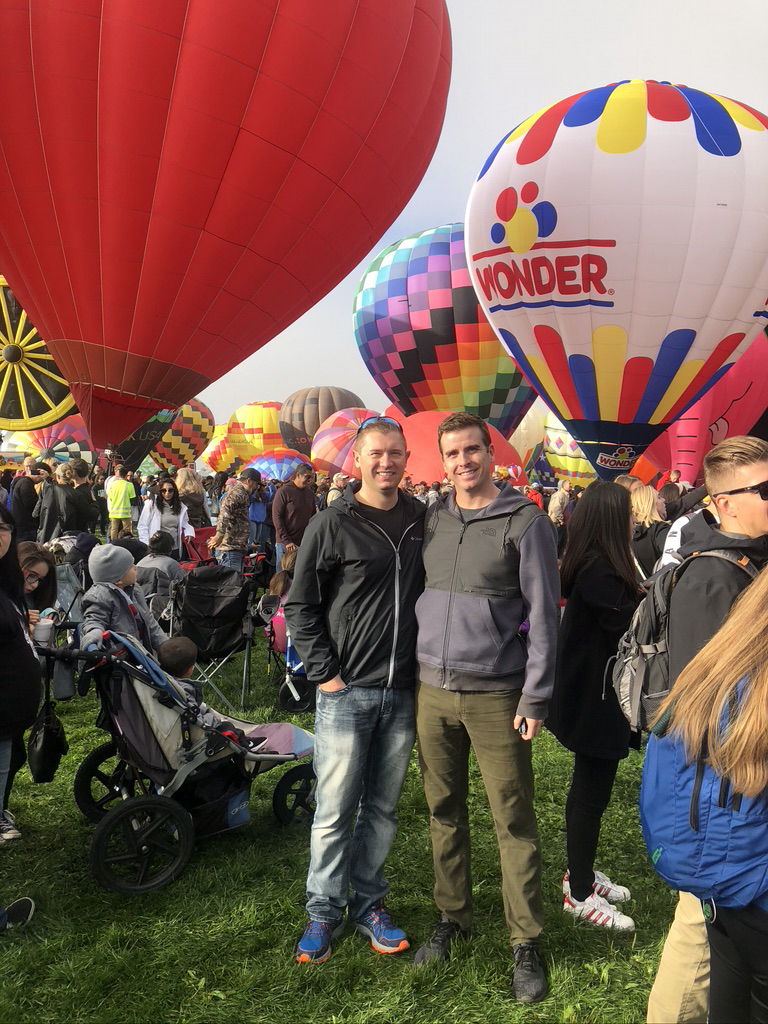 Enjoying the Balloon Fiesta!
