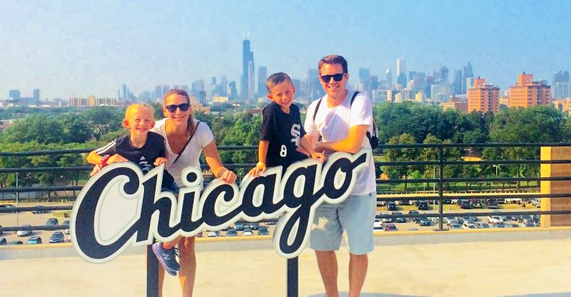 White Sox Game With Our Niece & Nephew