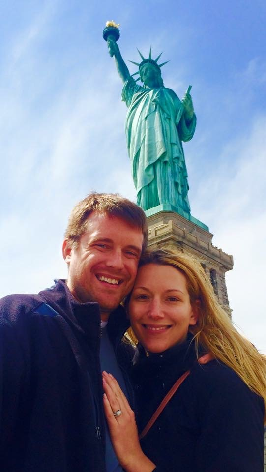 Visiting Lady Liberty in NYC