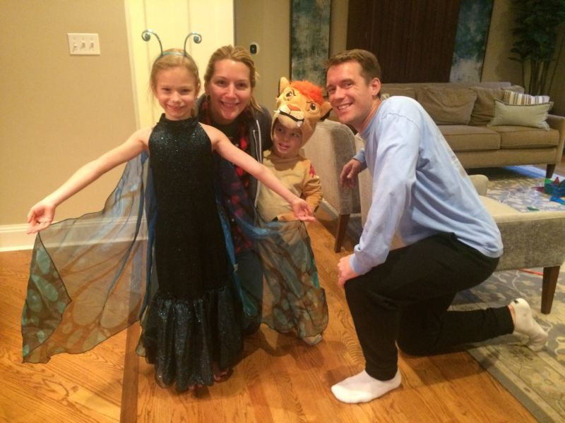 Taking Our Niece & Nephew Trick-or-Treating