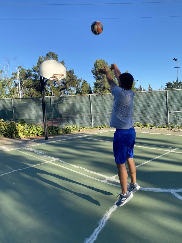 Paolo Playing Basketball