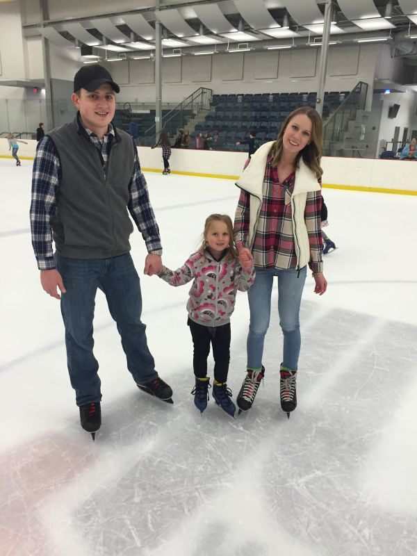 Ice Skating With Our Niece