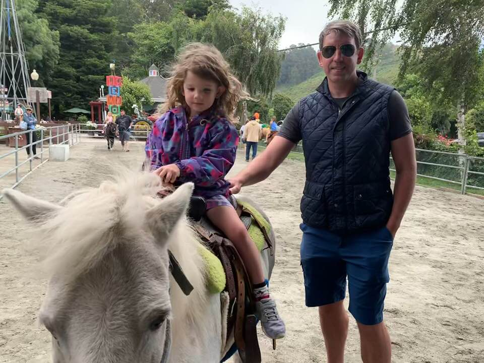 Riding a Pony at the Farm!
