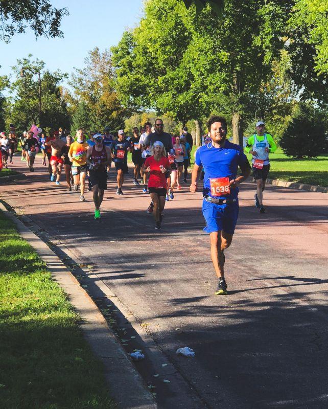 Carlos Running His First Marathon