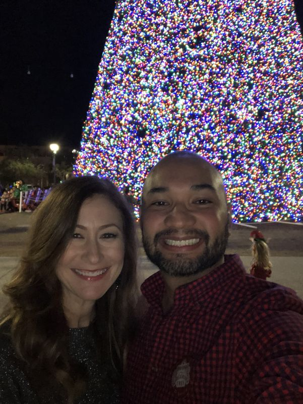 Visiting the Christmas Tree Where We Got Engaged