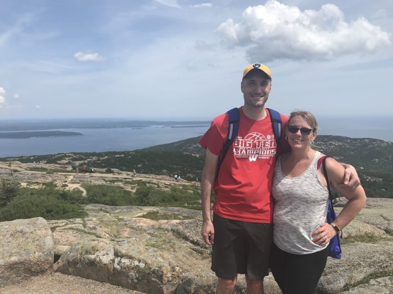 On Top of Cadillac Mountain in Maine